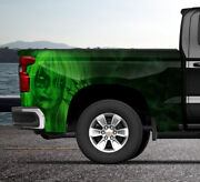 Mist Sexy Woman Lime Truck Wrap Vinyl Bed Side Graphic Decal Tailgate Ds Ps Usa