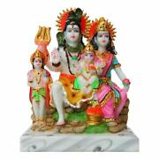 Roll Over Image To Zoom In Fabzone Lord Shiv Parivar Marble Dust Idol Shiv Parwa