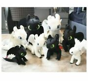 1 Set How To Train Your Dragon 3 Toothless Light Fury Plush Doll Toys Pillow