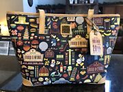 Nwt Disney Dooney And Bourke 2015 Epcot Food And Wine Festival Shopper Tote Bag