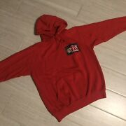 Vintage Red Man Hooded Sweatshirt Rare Chewing Tobacco Size L Made In Usa