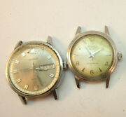2 Legant Stainless Steel Windup And Automatic Watches Watch Run For Restoration