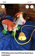 1972 Fisher Price Cow Pull Toy
