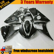 Motocycle Injection Bodywork Fairing Kit For Yamaha Yzf R6 2003 2004 Matte Black