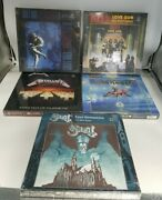 Lot Of 5 Rock/metal Rock Saws 500 Piece Puzzles Cover Albums -new Box Wear