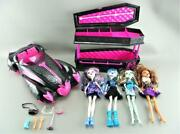 Mattel Monster High Dolls Coffin Jewelry Bed Draculaura 1600 Roadster Car Lot