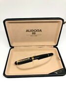 Aurora 88 Big Collectible Fountain Pen With 14 Kt Gold Nib, Complete With Box