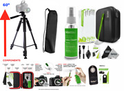 60 Tripod With Quick Release For Canon Eos Rebel Dslr + Pro Clean Kit + Remote