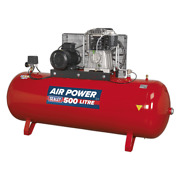 Sealey Compressor 500l Belt Drive 7.5hp 3ph 2-stage With Cast Cylinders Garag...