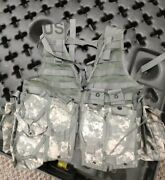 Molle Ii Fighting Load Carrier Vest W/ Multiple Mag Pouches Flc Us Army Acu