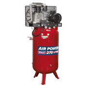 Sealey Compressor 270l Vertical Belt Drive 7.5hp 3ph 2-stage With Cast Cylind...