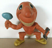 1940s Cleveland Indians Rempel Mascot Rubber Squeak Toy 2 Pre Chief Wahoo Mlb