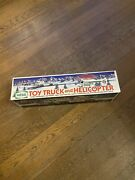 1995 Hess Toy Truck And Helicopter Brand New Box Never Been Opened