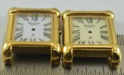 Lot Of 2 Gold Plated Case And Dial Ready To Fit Movement For Replacement M-7525