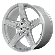 20x9.5 American Racing Ar936 Hellion Machined Silver Wheel 5x115 15mm Set Of 4