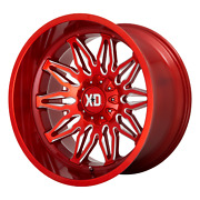 22x12 Xd Series Xd859 Gunner Candy Red Milled Wheels 5x5/5x5.5 -44mm Set Of 4