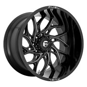 18x7 Fuel D741 Runner Utv Gloss Black Milled Wheels 4x137 13mm Set Of 4