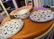 Vintage Furnivals Limited Blue Denmark China 2 Dessert/bread Plates And 1 Tea Cup