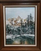 Carolyn S. Deines Ice And Snow Rare Original Painting On Canvas