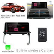 8-core Android 10 Car Gps Stereo Dash Wireless Carplay For Bmw X5 E53 + Idrive