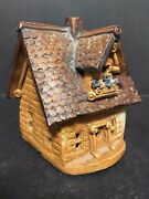 1987 Windy Meadows Pottery Ceramic Candle House Cottage Valley Jan Richardson