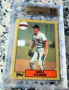 Will Clark 1987 Topps Sp Rookie Card Rc Rare Bgs 9.5 Sf Giants 284 Hrs