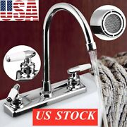 Home/rv Dual Handles Kitchen Faucet Hotandcold Basin Sink Spout Mixer Water Tap Us
