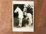 Showa Emperor Monochrome Old Photo 124 Th Horse Military Antique Japan