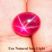 Star Ruby Oval Cabochon Natural Mind Blowing Loose Gemstone 09x10x05mm. 06.40cts