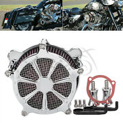 Chrome Air Cleaner Filter W/ Accessories For Harley Dyna Fatboy Wide Glide Fxdwg