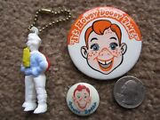 Vintage Howdy Doody Puzzle Keychain And 2 Pins Buttons Pinbacks