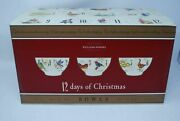 New In Box Williams Sonoma 12 Days Of Christmas Bowls S/6