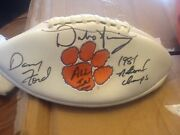 Dabo Swinney And Danny Ford Signed Clemson Tigers Football Both Legends Signed