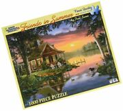 White Mountain Puzzles Friends In Summer - 1000 Piece Jigsaw Puzzle