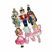 Old World Christmas Ornaments Nutcracker Suite Collection Glass Blown Orname...