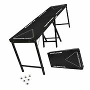 Gopong Pro 8 Foot Premium Beer Pong Table - Heavy Duty Black 36-inch Tall