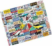 White Mountain Puzzles License Plates, 1000piece Jigsaw Puzzle
