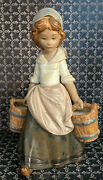 Lladro Figurines Collectibles Girl With Two Pails 3512