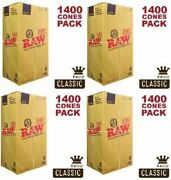 Raw King Cone 5,600 Count Pre-rolled Cones 110/26 - 4 X 1400ct Boxes