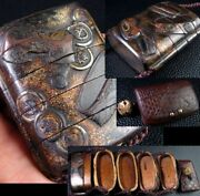 Wooden Lacquer Work Inro Sword Orthosis Purse-shaped Netsuke Edo Period Antique