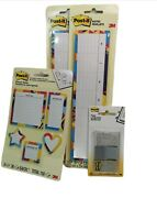 Post It Notes Keyboard Calendar, Planner And Flags Lot Of 4