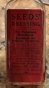 1940andrsquos Seeds Dressing Red Oil For Antique Furniture Glass Bottle