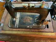 Antique New Home Sewing Machine Circa 1902 W/ Original Booklets And Attachments