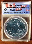 2013 Canadian Antelope   Anacs Ms69   First Release   5