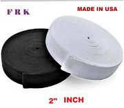 2 Inch Sewing Elastic 100 Yard High Quality Made In Usa , Free Shipping