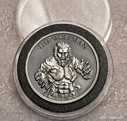 2020 - Wolfman 2 Oz .999 Silver Antique Round Vintage Horror Collection