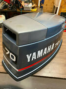 95 Yamaha 70 Hp 3 Cyl 2 Stroke Outboard Hood Top Cowl Cover Freshwater Mn