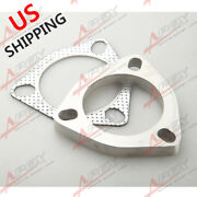 Us Ship 2.5 3 Bolt Turbo Exhaust Header Manifold Downpipe Flange And Gasket Kit