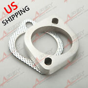 Us 2.5 2-bolt Stainless Steel Turbo Exhaust Header Downpipe Flange And Gasket Kit