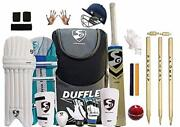 Sg Full Cricket Kit With Duffle Bag And Spofly Stumps Full Size For Manadult